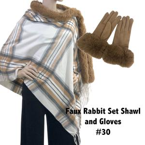 Holiday Gift Ideas Shawl and Gloves Set - Camel 30 - One Size Fits All