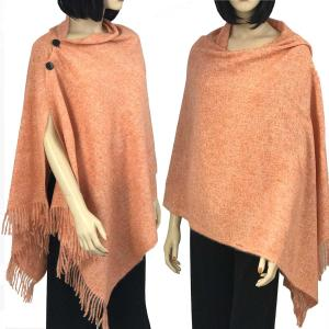Brushed Cashmere Feel Shawls with Buttons BCFB Tangerine -