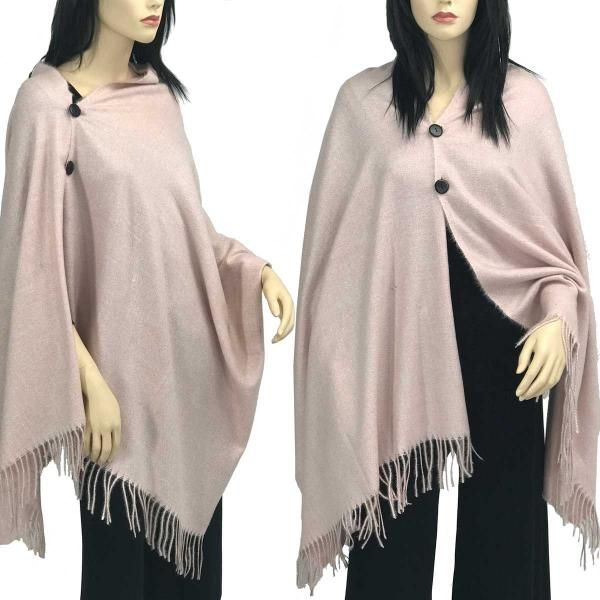 Brushed Cashmere Feel Shawls with Buttons BCFB Mauve -
