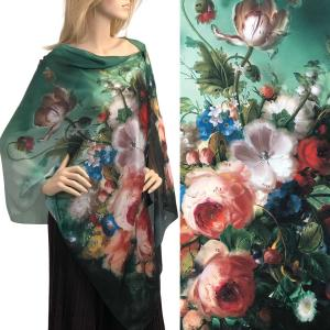 wholesale Satin Charmeuse Shawls with Buttons #13 with Black Buttons -