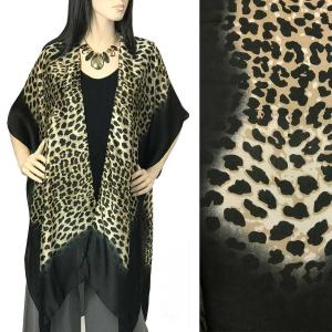 Kimono - Satin Charmeuse 1294 & 1295 Animal Print 1294 Black* -