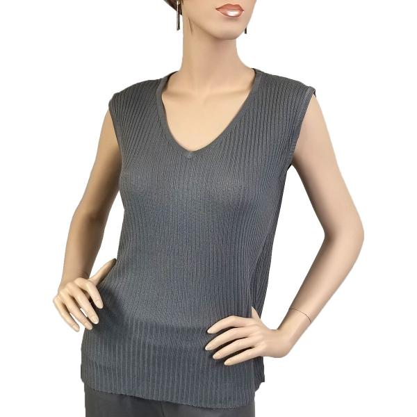 Wholesale Ribbed Sweater Knit Sleeveless Top Charcoal Ribbed Sweater Knit Sleeveless Top -