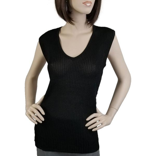 Wholesale Ribbed Sweater Knit Sleeveless Top Black Ribbed Sweater Knit Sleeveless Top -