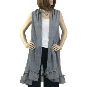 wholesale Vests - Summer Weight w/ Ruffled Bottom 1350 Grey -