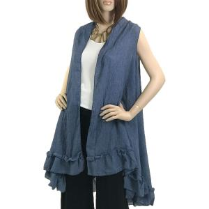 wholesale Vests - Summer Weight w/ Ruffled Bottom 1350 Blue -
