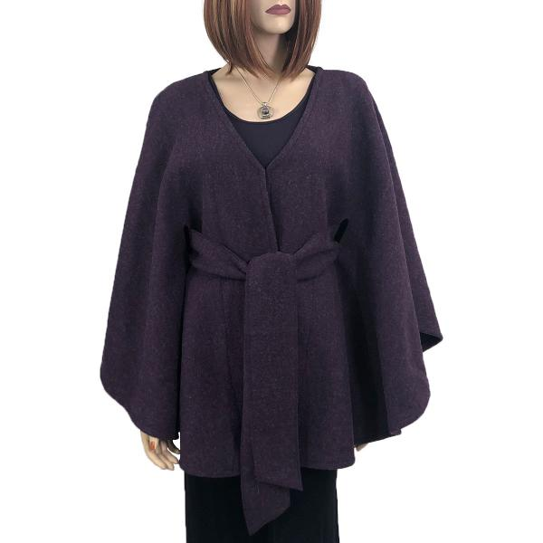 wholesale Capes - Luxury Wool Feel / Belted LC15 Plum -