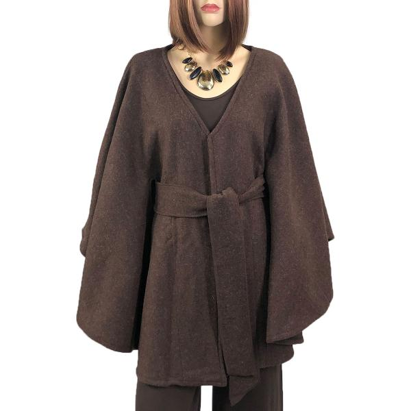 wholesale Capes - Luxury Wool Feel / Belted LC15 Brown -