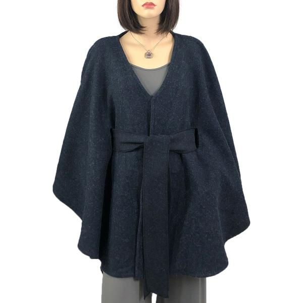 wholesale Capes - Luxury Wool Feel / Belted LC15 Navy -