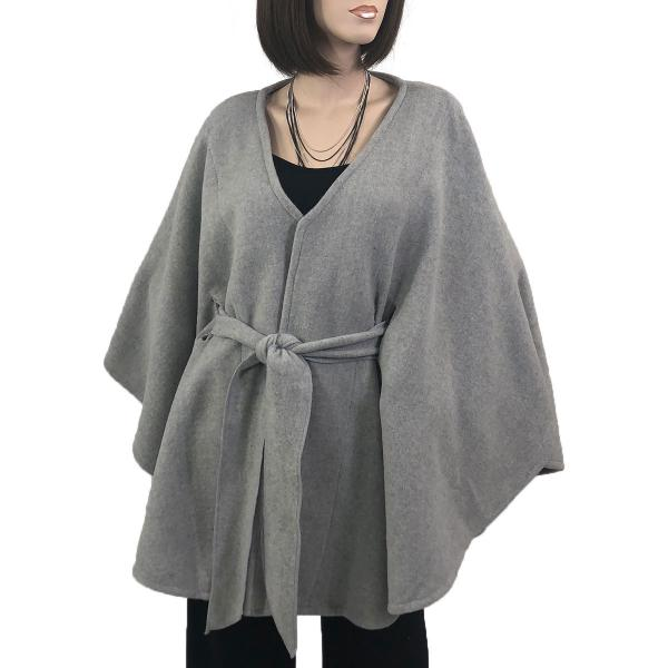 wholesale Capes - Luxury Wool Feel / Belted LC15 Light Grey -