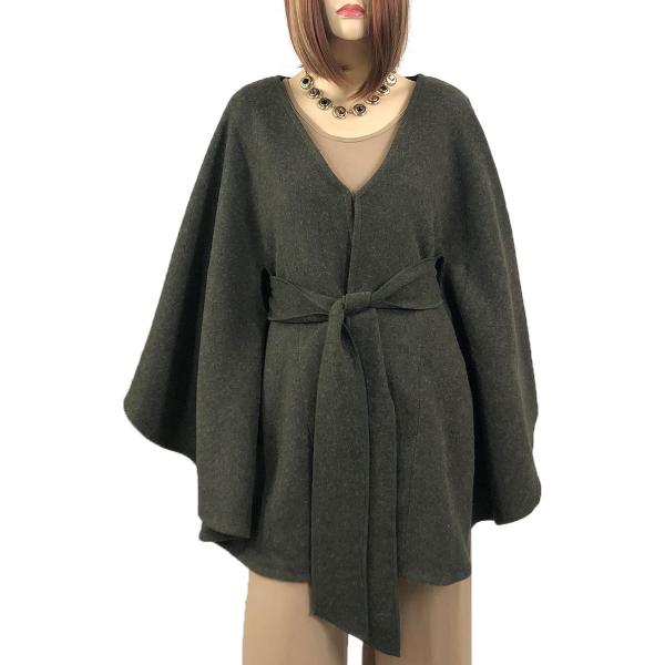 wholesale Capes - Luxury Wool Feel / Belted LC15 Olive -