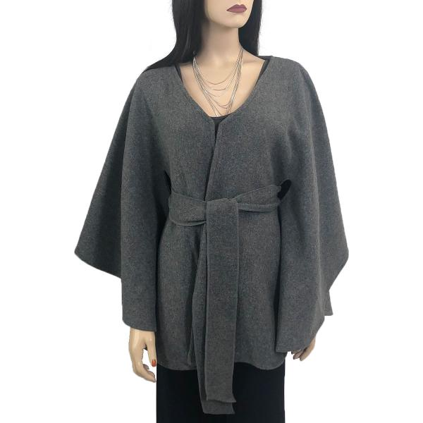 wholesale Capes - Luxury Wool Feel / Belted LC15 Grey -