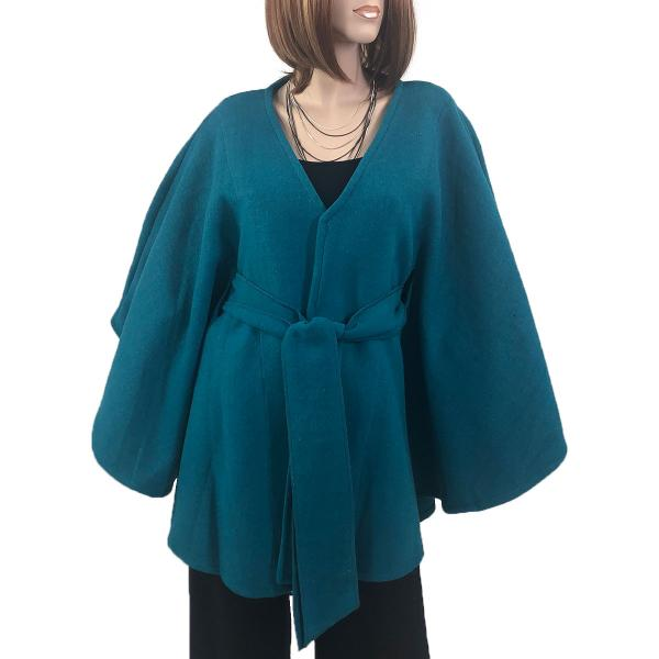 wholesale Capes - Luxury Wool Feel / Belted LC15 Teal -