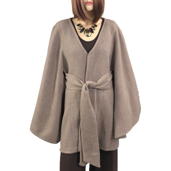 wholesale Capes - Luxury Wool Feel / Belted LC15 Taupe -