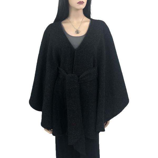 wholesale Capes - Luxury Wool Feel / Belted LC15 Black -
