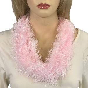 Magnetic Clasp Scarves (Eyelash Yarn) #02 Baby Pink -