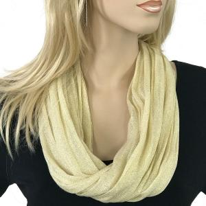 Magnetic Clasp Scarves (Lurex Shimmer) #02 Ivory -