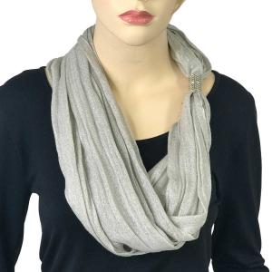 Magnetic Clasp Scarves (Lurex Shimmer) #06 Silver -