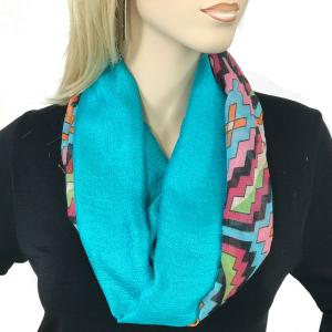 Magnetic Scarves by Caterina #03 Multi Color 026 Pink - Teal -