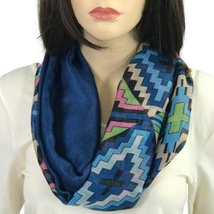 Magnetic Scarves by Caterina #01 Multi Color 026 Blue-Green - Navy -