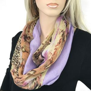 Magnetic Scarves by Caterina #06 Snake Print 0213 Lilac - Lavender -