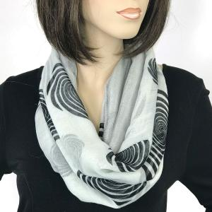 Magnetic Scarves by Caterina #05 Spiral 017 White-Black - Grey -