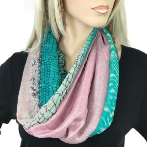 Magnetic Scarves by Caterina #08 Multi Python 994 Teal - Dusty Pink -