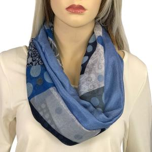 Magnetic Scarves by Caterina #10 Lace & Polka Dot 3729 Blue - Blue -