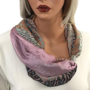 Magnetic Scarves by Caterina #13 Multi Python 994 Magnetic Clasp Scarf Pink - Dusty Pink -