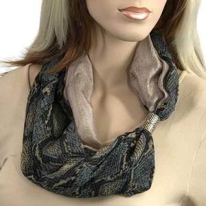 Magnetic Scarves by Caterina #15 Reptile Grey - Taupe -