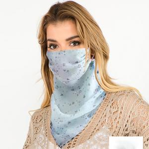 wholesale Protective Mask Scarf Combos C01/C02/C04/C08 1C05 Mint w/Little Heart Design -