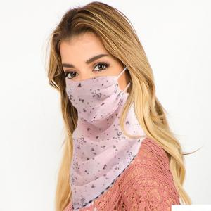 wholesale Protective Mask Scarf Combos C01/C02/C04/C08 1C05 Pink w/Little Heart Design -