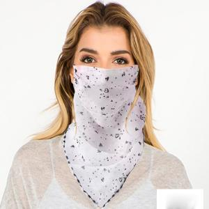wholesale Protective Mask Scarf Combos C01/C02/C04/C08 1C05 White w/Little Heart Design -