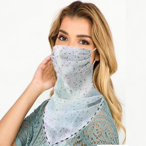 wholesale Protective Mask Scarf Combos C01/C02/C04/C08 1C06 Mint w/Tiny Flowers -