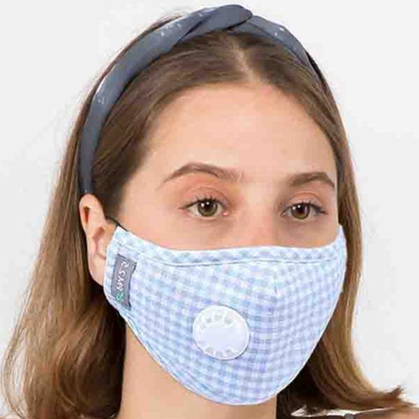 wholesale Protective Masks with Respirator + Filters C09 C10 1C09 Light Blue Check Protective Masks with Respirator + Filters -