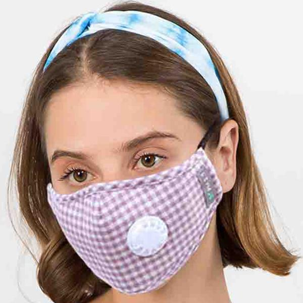 wholesale Protective Masks with Respirator + Filters C09 C10 1C09 Light Pink Check Protective Masks with Respirator + Filters -