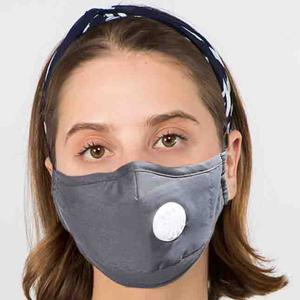 Protective Masks with Respirator + Filter C09 C10 1C10 Grey (100% Cotton)w/2 Filters -