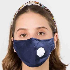 Protective Masks with Respirator + Filter C09 C10 1C10 Navy (100% Cotton)w/2 Filters -