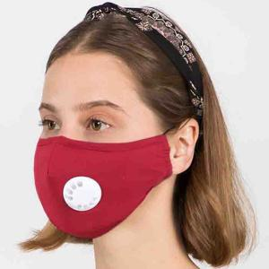 Protective Masks with Respirator + Filter C09 C10 1C10 Red (100% Cotton)w/2 Filters -