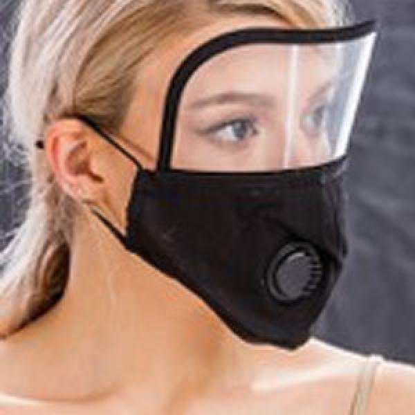 wholesale Protective Masks with Respirator + Filters C09 C10 Mask with Eye Protection, Valve and Filter Pocket (Black) -