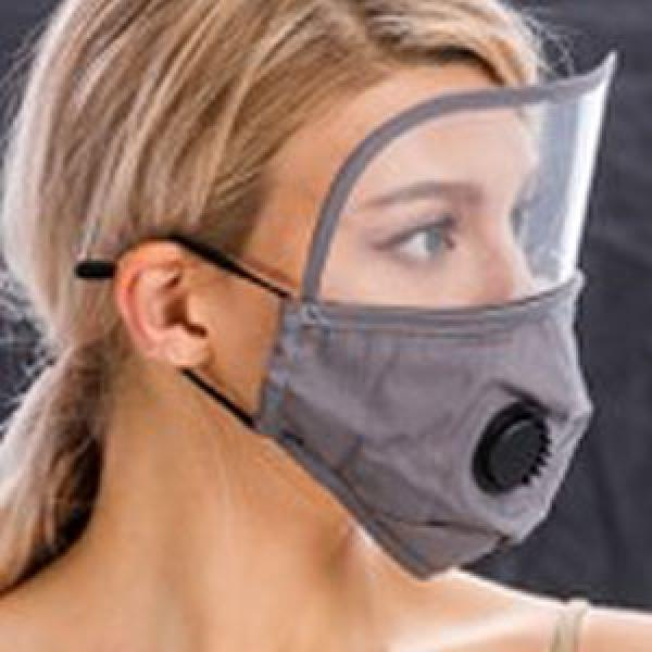 wholesale Protective Masks with Respirator + Filters C09 C10 Mask with Eye Protection, Valve and Filter Pocket (Grey) -