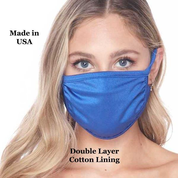 Protective Masks Multi Layer by Lola  Tricot Royal (Made in USA) -
