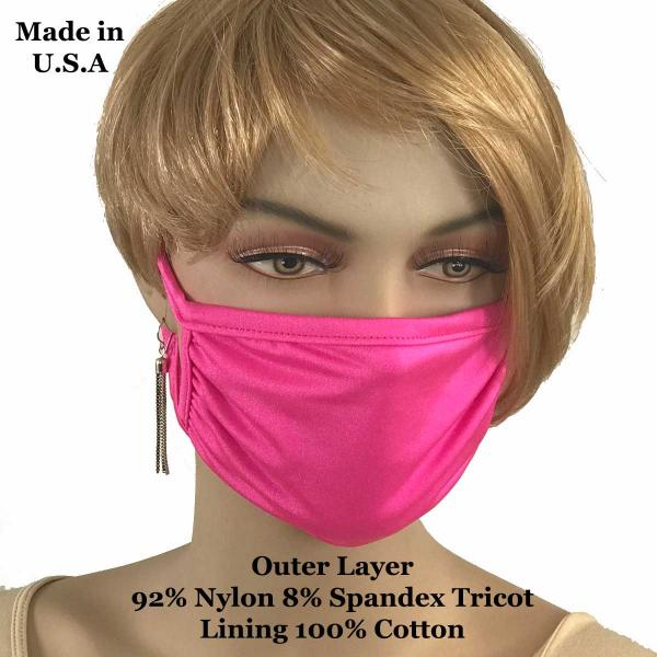 Protective Masks Multi Layer by Lola  Tricot Hot Pink (Made in USA) -
