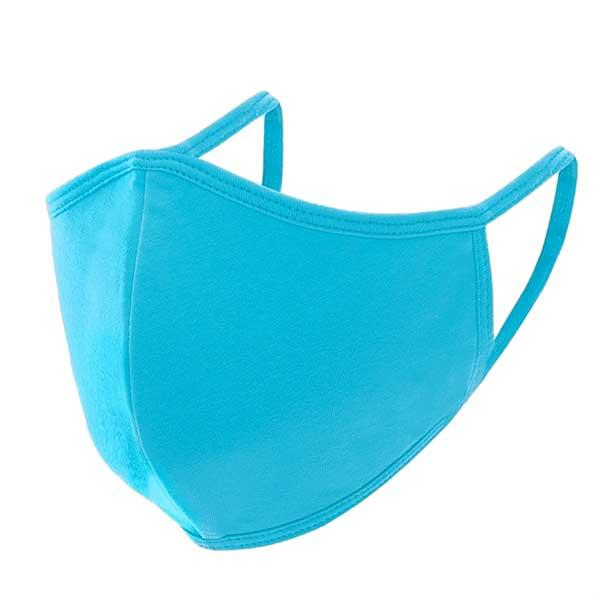 Protective Masks Multi Layer by Lola  TS03 Triple Ply 95% Cotton 5% Spandex  (Aqua) MB - Masks Multi Layer by Lola  -