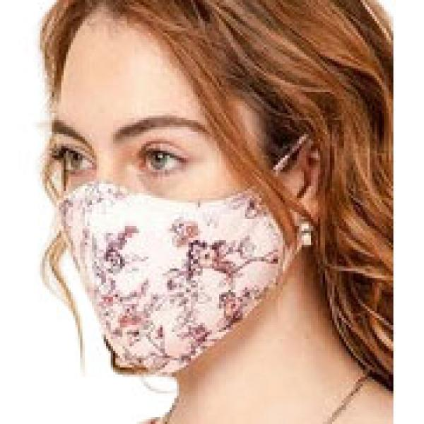Protective Masks Multi Layer by Lola  TS08 Pink/Purple Flower  - Masks Multi Layer by Lola  -