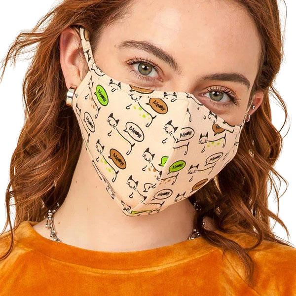 Protective Masks Multi Layer by Lola  TS05 Meow Mask (Three Layer)MB - Masks Multi Layer by Lola  -