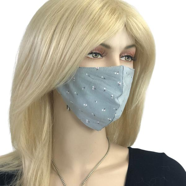 Protective Masks Multi Layer by Lola  1C11 Blue Grey (100% Cotton Two Layer)* - Masks Multi Layer by Lola  -