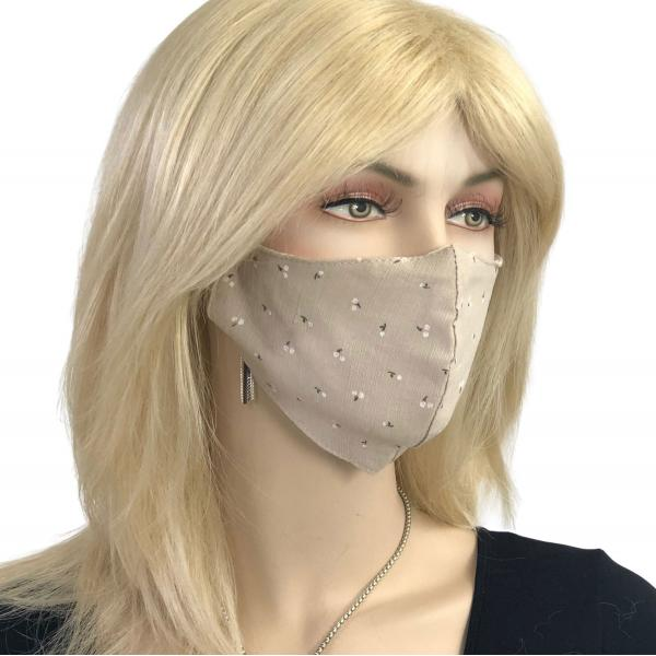 Protective Masks Multi Layer by Lola  1C11 Tan (100% Cotton Two Layer)* -