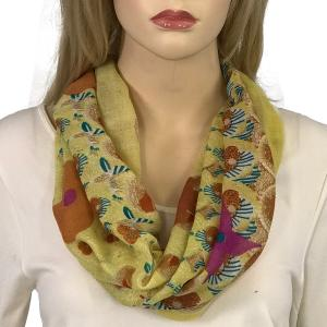 Magnetic Clasp Scarves (Gypsy Prints) #05 Flower Border Yellow -