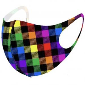 wholesale Protective Mask Laser Cut 3D Design Buffalo Plaid Multi -