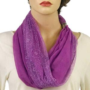 wholesale Magnetic Clasp Scarves (Cotton with Lace) #06 Lilac -